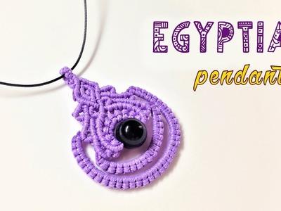 Macrame tutorial for pendant: The Egyptian style - elegant DIY craft idea