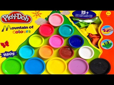 Play Doh Mountain of Colours Playset - Play w. Shapes and Molds - Playdough Toy Review