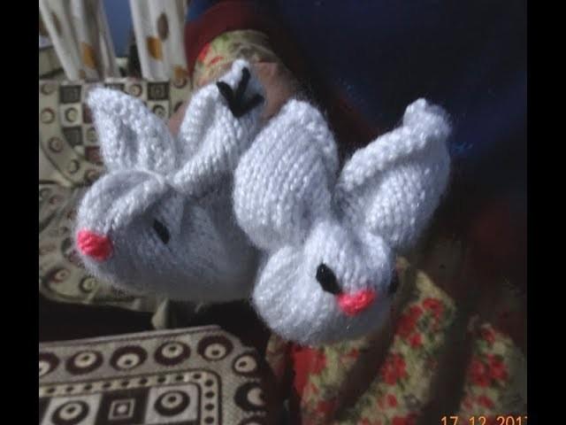 Rabbit shaped woolen socks for kids