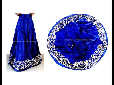Ready made style 16 kali Lehenga.Ghagara  Stitching at home - Simple and easy making