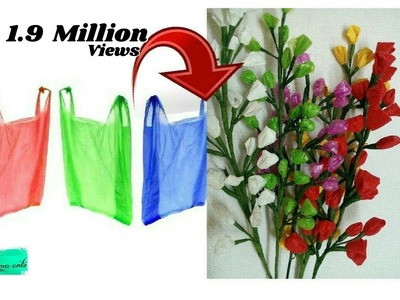 Reuse idea with Carry bags | Making flower bunches | Best out of waste