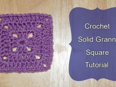 Solid Granny Square Crochet Tutorial - Crochet Jewel
