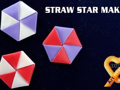 Straw star making - How to Fold Star using straw