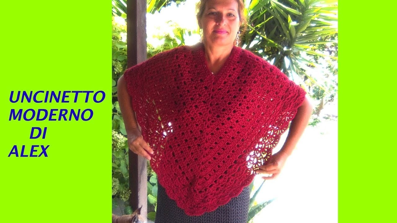 Super Easy Crochet Poncho Tutorial