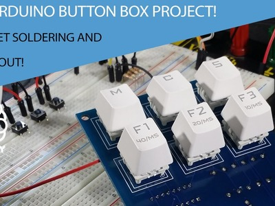 The Arduino Button Box Project!  Let's get soldering and test it out! Tutorial
