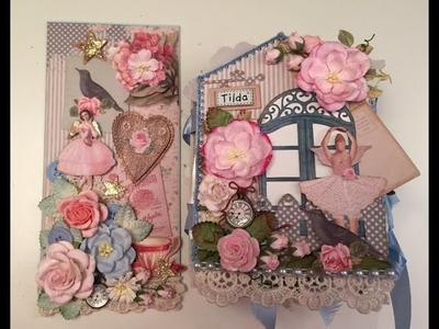 Tilda - whimsical country chic Mini album and card, gifts for a dear friend