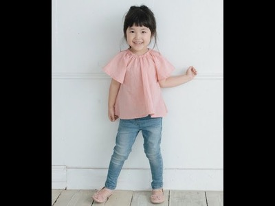 TP038 フレアブラウス  作り方動画 型紙  how to make flare blouse
