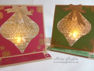 Tutorial | Christmas Bauble Tea Light Card