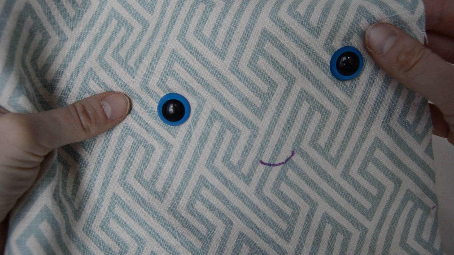 Backstitch: How to Embroider a smiley face