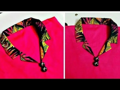 Beautiful coller neck design for kameez cutting and stitching  very simple 