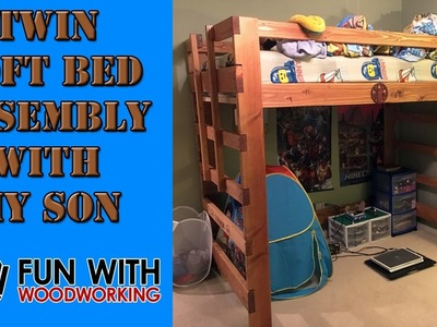 Building a loft bed with my son