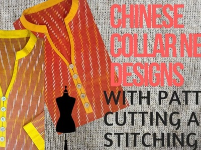 Chinese Collar Neck Designs Cutting and Stitching