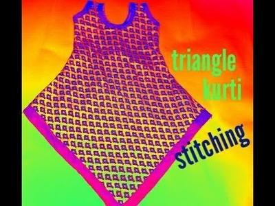 Designer triangle kurti stitching part- 2 2017