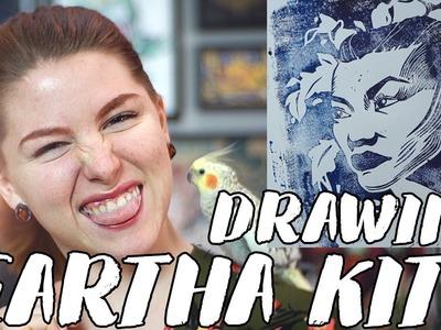 Drawing Catwoman Eartha Kitt. Rad Art with Beth Be Rad | Snarled