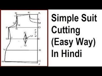 Easy method of Simple Suit Cutting for beginners