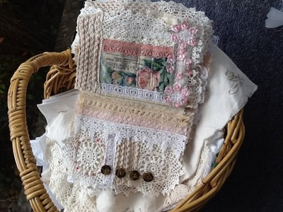 Fabric Art  Journals and More Thrift Shop Finds
