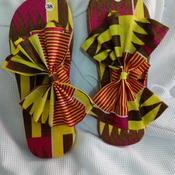 Flops branded in African prints