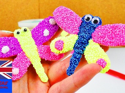 Foam clay butterfly | Sweet butterfly for the summer with jiggly eyes