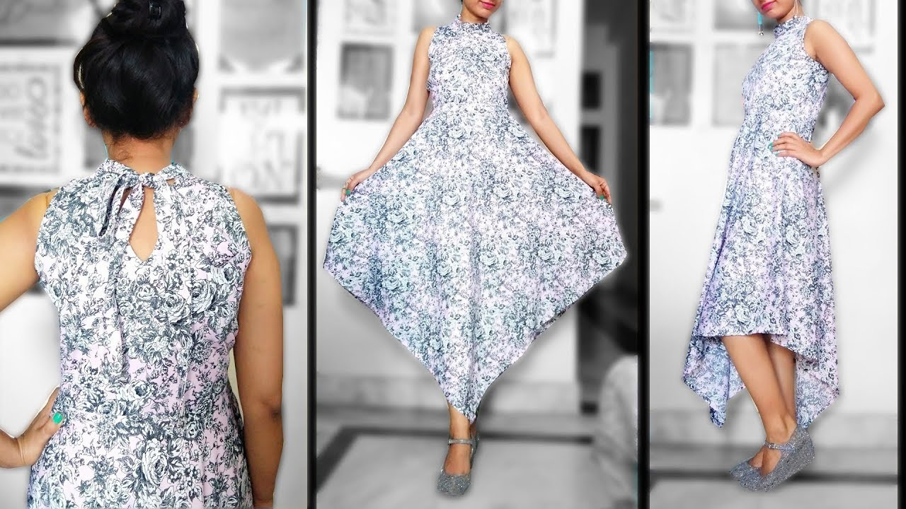 Halter Neck Dress  | Triangle Dress | Designer Halter Neckline
