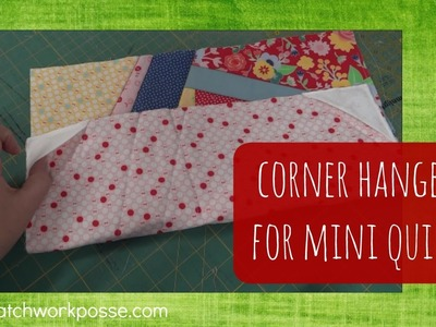How to add corner hangers to the back of mini quilts