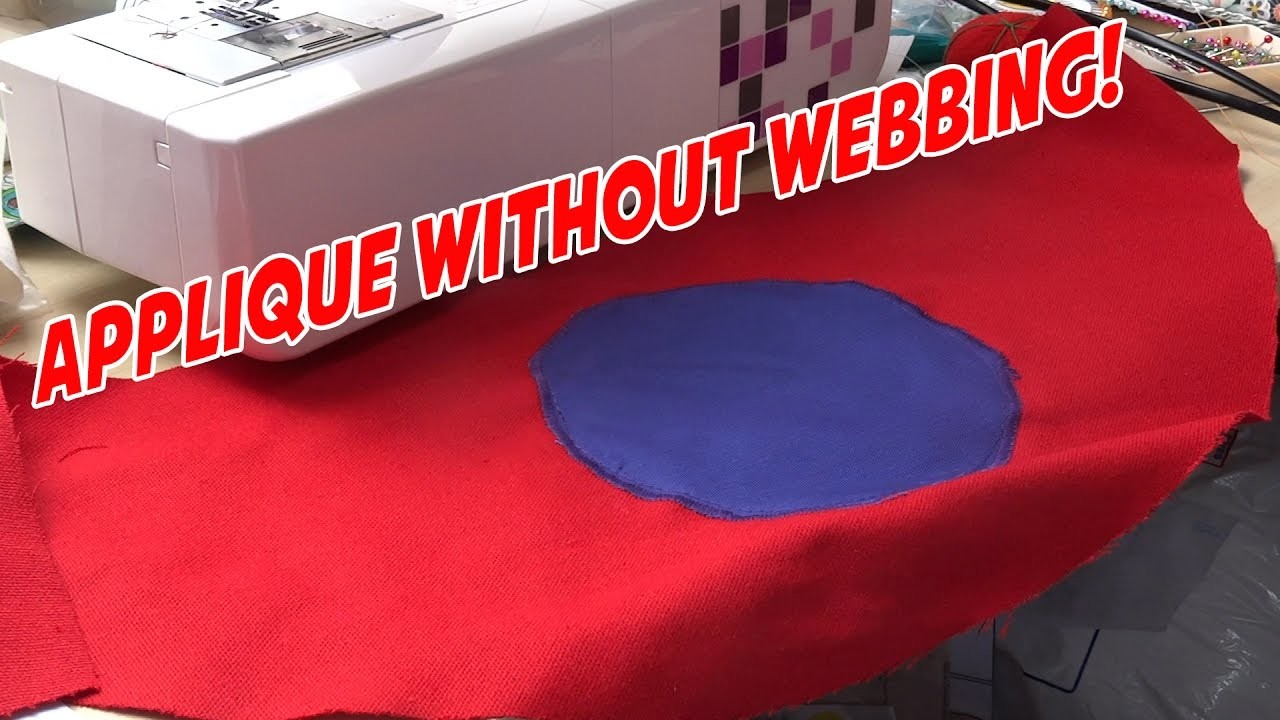 How to applique without fusible web