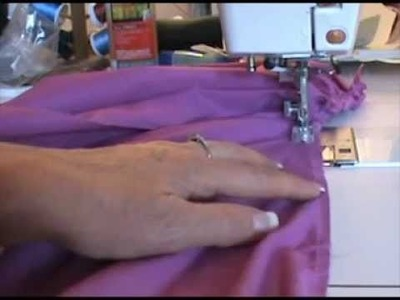 How To gather fabric without breaking thread using Pearls N Piping sewing foot.