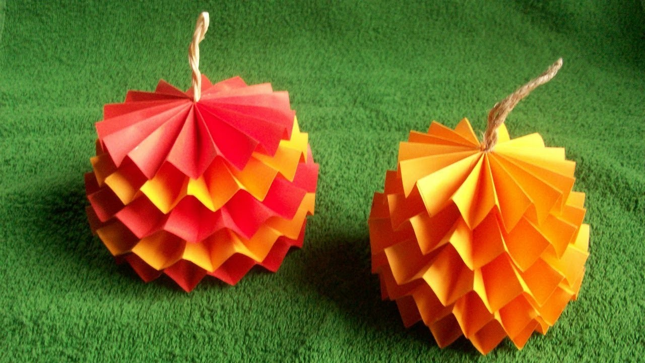 How to make a d easy pumpkin out of paper for halloween