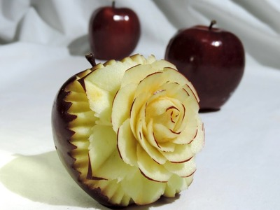 HOW TO MAKE A FLOWER IN APPLE - By J.Pereira Art Carving Fruits and Vegetables
