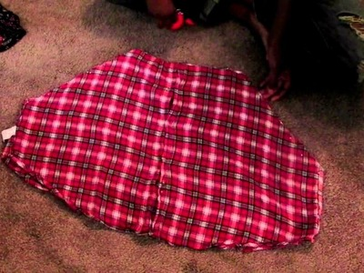 How to make a man 's shirt into circle skirt outfit DIY