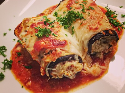 How to make Eggplant Rollatini   LOW CARB