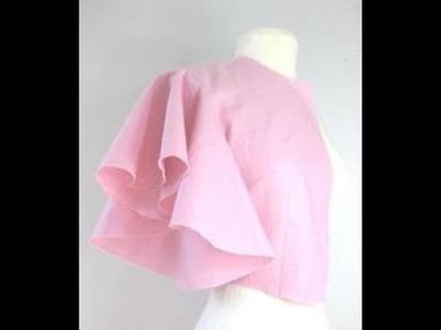 How to make umbrella designing sleeve tutorial.