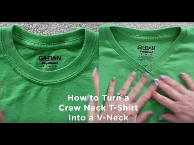 How to Turn a Crew Neck T-Shirt Into V-Neck