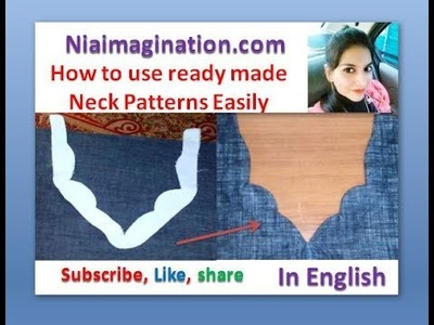 How to use ready made Neck Patterns Easily | neck Designs | in English
