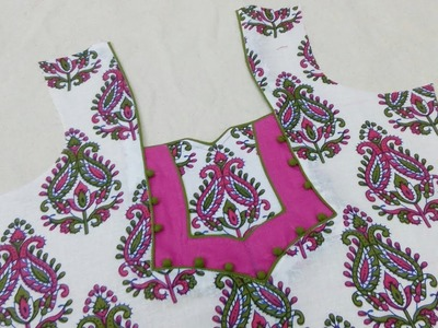 Kameez Neck Design | Cutting and Stitching in Hindi