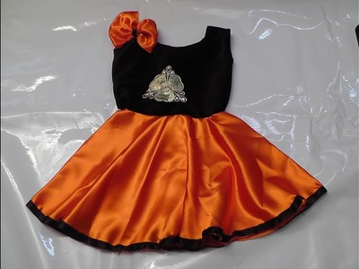 KIDS FANCY PARTY WEAR FROCK CUTTING AND STITCHING PART-2