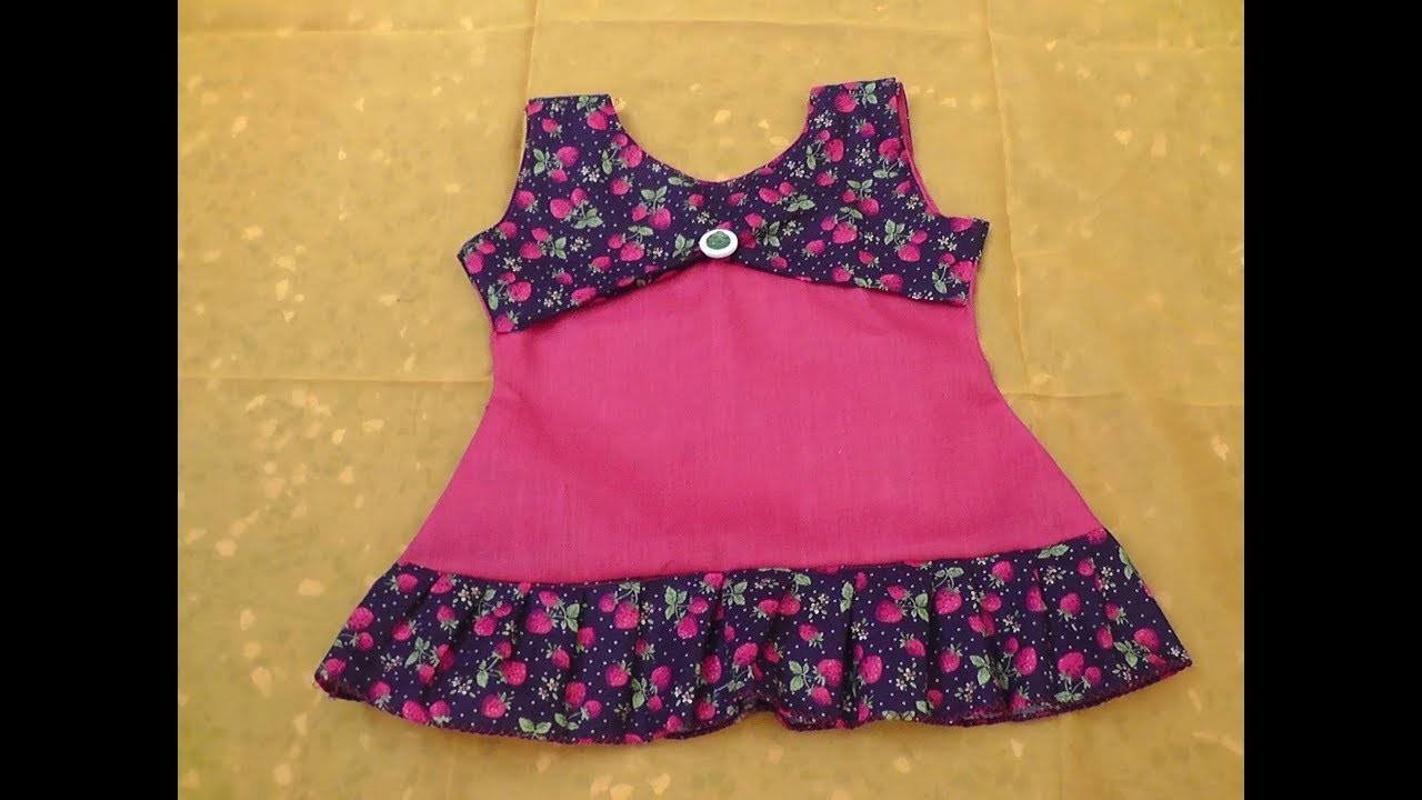 6e2dcbfd056b KIDS SUMMER SIMPLE COTTON FROCK CUTTING AND STITCHING