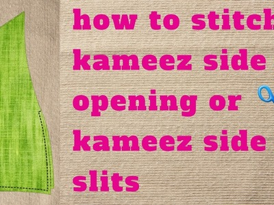 Kurti side slit opening how to stitch easy method