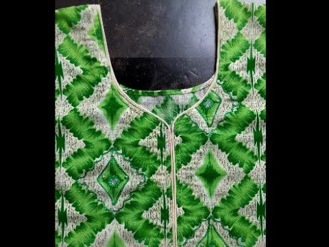 Latest Designer Neck with Dori Piping cutting and stitching in easy way in hindi