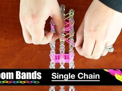 Loom Bands - Single Chain Bracelet with Loom