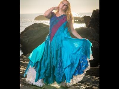 Making a Mermaid wedding dress. luxury adult costume