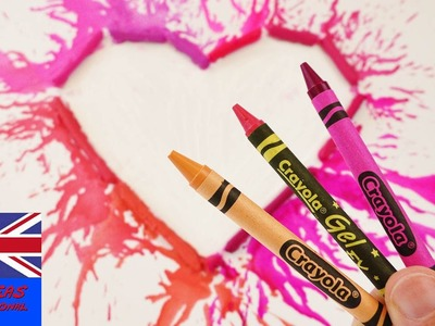 Melted Crayons Painting | Gift idea for Mother's Day | Heart Painting