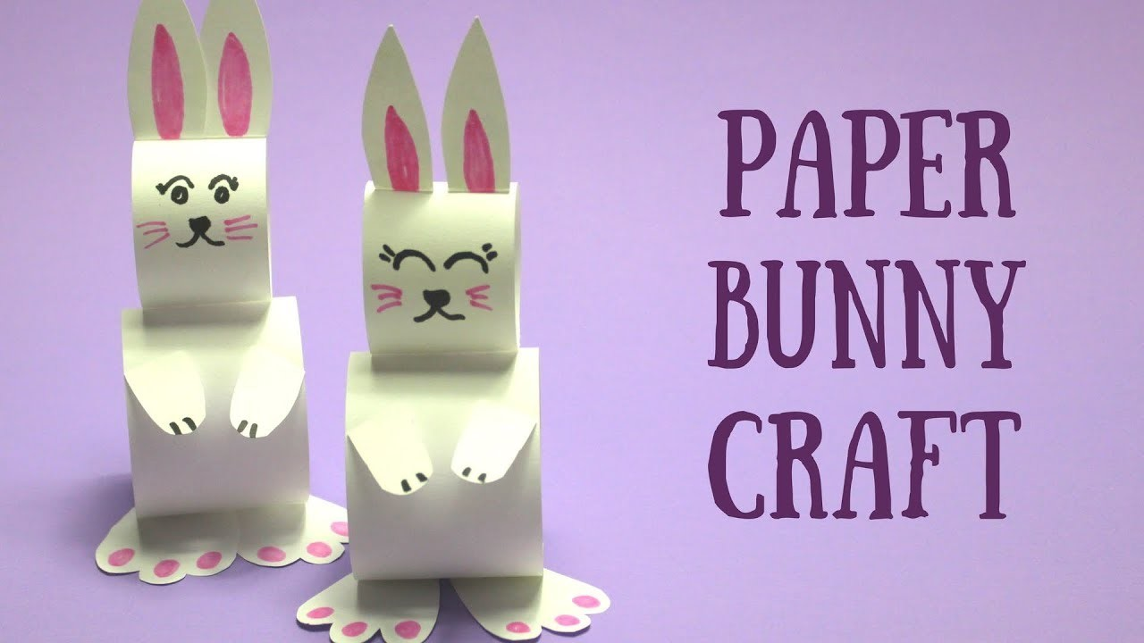 Paper Bunny Craft   Easy Easter Crafts for Kids