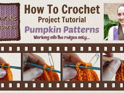 Pumpkin Patterns - Round Ridges Only
