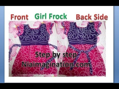 Sew plain Frock with Puff sleeves Full | for begginers step by step | easy
