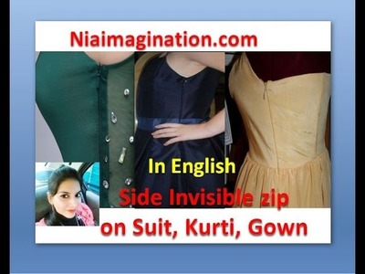Side invisible Zip on kurta, gown, suit | in English | latest fashion