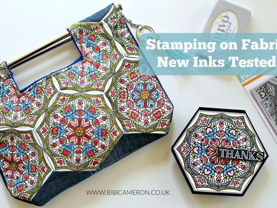Stamping on  fabric  with Tim Holtz Stamping  Platform and Nuvo Hybrid Inks