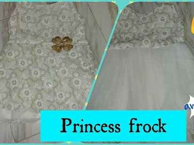 Stitching of beautiful little angel's frock| 5 layers stitching like gown| part -2| Princess frock