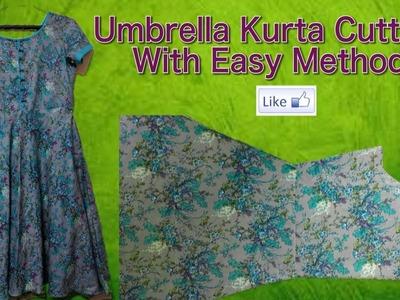 Umbrella kurta Stitching for women with easy method (अम्ब्रेला कुरते की सिलाई  कैसे करें)