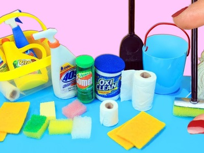 10 Real Working Miniature Cleaning Equipment & Products - 10 Easy DIY Miniature Doll Crafts