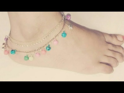 #15 how to make anklets||simple way to make beautiful payal||নুপুর||পায়েল||jewellery making